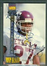 Greg Hill Football Auto 1994 Signature Rookies '94 Autograph Signed Card