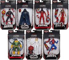 Marvel Legends ~ SPIDER-MAN WAVE 10 ACTION FIGURE SET with SP//DER BAF COMPLETE