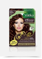 Dabur Vatika Natural Black Henna Hair Colour Powder | No Ammonia |- 60g (6x 10g)