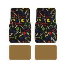 New Love Paris Multi Colors Printed Universal Fit Car Truck Carpet Floor Mats