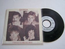 SP 2 TITRES VINYLE 45 T , QUEEN , I WANT TO BREAK FREE . VG + / EX .