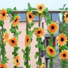 DIY Plastic Artificial Sunflower Garland Flower Vine Home Wedding Gift Decor HOT