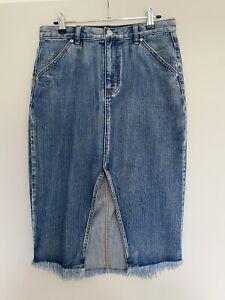 Sportsgirl Denim Midi Skirt - Size 10