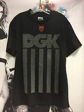 New Men's DGK Dirty Ghetto Kids Reflective Tee Skateboard T-Shirt Black Medium