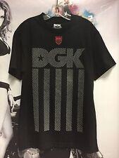 New Men's DGK Dirty Ghetto Kids Reflective Tee Skateboard T-Shirt Black Medium