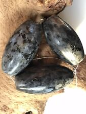 #105 larvakite XL Focal riz Flashy Gemstone 3 Perles Fabrication de Bijoux Maker