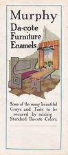 * MURPHY DA-COTE - Advertising Brochure - Furniture Enamels