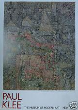 KLEE PAUL - AFFICHE ORIGINALE POUR LE MUSEE D'ART MODERNE DE NEW YORK 1989