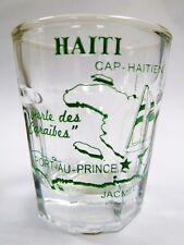 HAITI VINTAGE MAP OUTLINE SHOT GLASS SHOTGLASS