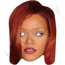 Rihanna masque cheveux rouge célébrité chanteuse carte masque. tous nos masques sont pré-coupé!