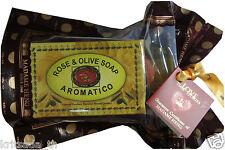 120 g Rose & Olive Aroma Soap Madame Heng Aromatico Natural Freshness
