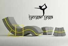 Wall Stickers Vinyl Decal Iyengar Yoga Pose Exercise Room Yogini Om  EM576