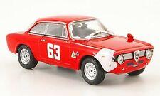 ALFA ROMEO GIULIA SPRINT GTA #63 DE ADAMICH 4H MONZA 1966 1/43 ROUGE ROSSO