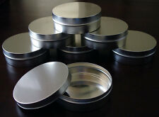 50 Slip Cover Tin Canister Round Containers Seamless 8oz