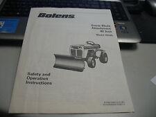 Bolens Snow Blade Attach 42-Inch,18305 Safety/Operation Instructions 5528712