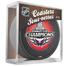 Washington Capitals 2018 NHL Stanley Cup Champions 4 Puck Coasters Set w/cube