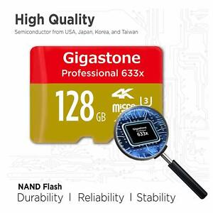 Pro 128GB Micro SD Card UHS-I U3 Up To 95MB/s, Rexing, Dashcam, GoPro, Camera
