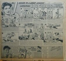 Large 1937 newspaper ad for Camels - Lou Gehrig New York Yankees champion