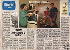 Coupure de presse Clipping 1985 Le Laser pour vaincre la douleur  (2 pages)