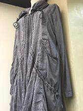 Lightweight Jacket Coat Simclan Grey M L 12 14 16 Shabby Chic Arty Lagenlook