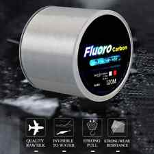 120M Invisible Clear Fishing Line Fluorocarbon Super Strong Wire Size 10 - 45 Lb