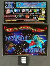 Aristocrat MK5 Slot Machine MAGIC MASK Glass Set w/ Software