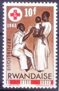 Rwanda 1963 MNH no Gum, Red Cross, Doctor, Medicine   (A4n)