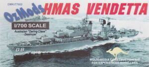 1/700 OZMODS; HMAS VENDETTA D08 RAN Daring Class Destroyer