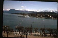 Apr 1970 kodachrome photo slide Lucerne Switzerland  ships