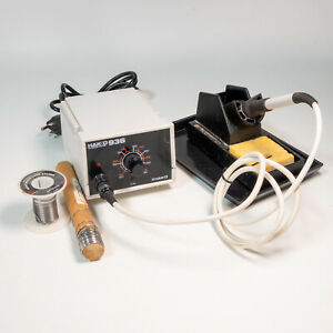 Hakko 936 Adjustable-Temperature ESD-Safe Solder Station w/ 907 Iron Tips Stand