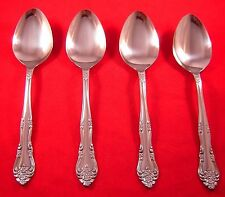 Stanley Roberts / Rogers Dream Rose 4 Stainless Oval Soup Spoons NEW