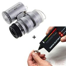 Jeweler Tool Kit Diamond Selector V2 Portable Tester + 45X Illuminated LED Loupe