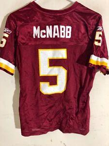 Reebok Women's NFL Jersey Washington Donovan McNabb Burgundy sz M