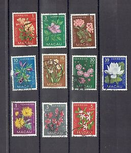 Macau 1953 Indigenous Flowers Stamps Used Set