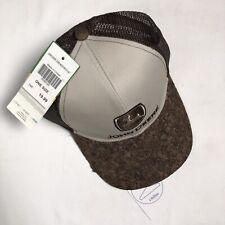 New John Deere Cork Bill Snapback Hat Mens Licensed Brown Ivory Mesh Back