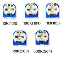 Trimmer Potentiometer Kit 5pc 1m 10k 20k 100k 500k