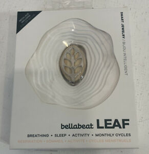 Bellabeat Leaf Nature Health Tracker Smart Jewelry Silver - New Battery