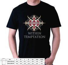 Within Temptation Unity 1 Slim Fit Tshirt Gildan Black Men's USA Size XS to 4XL