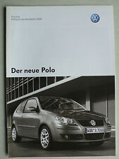 Prospekt / Preisliste Volkswagen VW Polo, 4.2005, 12 Seiten