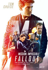 MISSION IMPOSSIBLE FALLOUT MOVIE POSTER 2 Sided ORIGINAL Ver B 27x40 TOM CRUISE