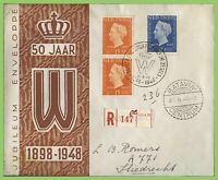 Netherland Indies 1948 Jubilee registered cover, special cancel