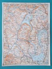 "NORWAY Oslo Drummen Asker & Environs - 1912 Baedeker Map 6 x 8"" (15,5 x 20 cm)"