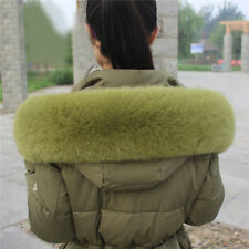 100%Real Whole Fox Fur Collar Wrap Shawl Collar Down Jacket Hood Trimming Scarf
