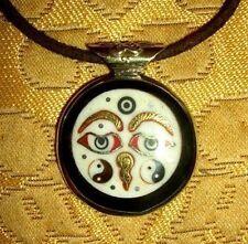 Schönes SILBER Buddha-Amulett aus NEPAL BUDDHA EYES