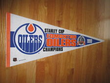 "1990 EDMONTON OILERS Stanley Cup Champs 30"" Pennant WAYNE GRETZKY MARK MESSIER"