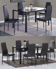 Ensembles de table et chaises de maison en verre pour salle à manger