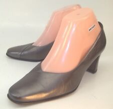 Peter Kaiser Wos Heels Pumps US 6.5 Gray Leather Slip On Dress Work Shoes