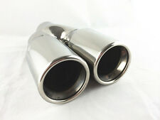 """Perf Core Inside/Twin Rolled Outlet/Stainless Steel Twin Tip .ID64MM/2.5"""" 2*76MM"""
