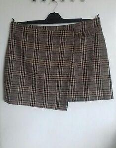 NEXT Tartan Check Wrap Skirt Size 20 Autumn Winter Work Casual