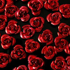 50Pieces 8mm Red Anodized Aluminum Rose